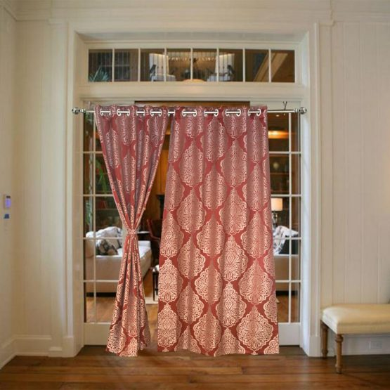 curtains for door with window